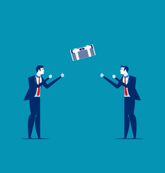 Businessman throwing and catching money concept vector