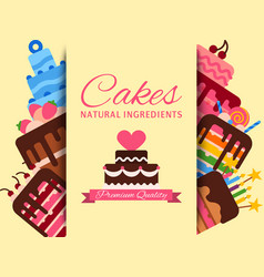 cake shop banner cakes vector image