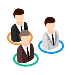 Candidates competing for one position icon vector image