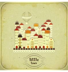cartoon little town vector image vector image
