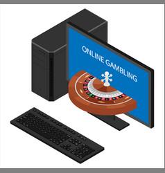 Casino and gambling concept online gambling vector