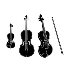 cello and violin isolated on white vector image