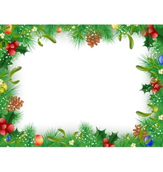 Christmas and New Year Frame vector image