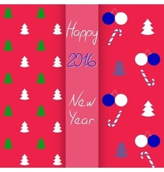 Christmas and New Year seamless set vector image