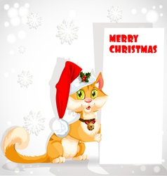 Christmas Santa Cat vector