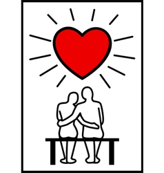 Couples in Love vector image
