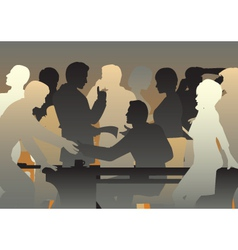 Crowded office vector image