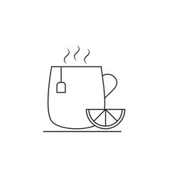 cup of tea lemon icon vector image