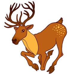 Cute alive deer running vector