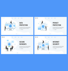 data privacy protection secure payments and vector image