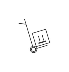 delivery transport line icon simple modern flat vector image