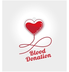 Donate blood logo vector