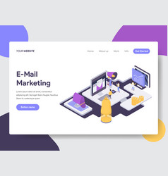 email marketing isometric vector image