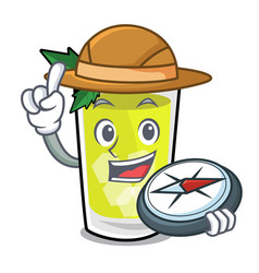Explorer mint julep mascot cartoon vector