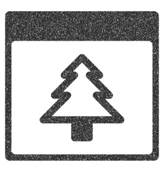 Fir Tree Calendar Page Grainy Texture Icon vector