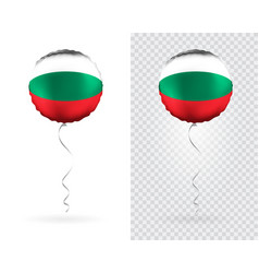 foil round shaped balloons in as bulgaria vector image