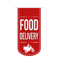 food delivery banner design vector image
