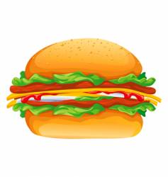 hamburger rasterized illustration vector image