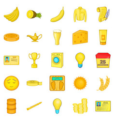 Healthy food icons set cartoon style vector