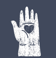 heart in open human palms vector image