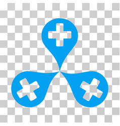 hospital map markers icon vector image