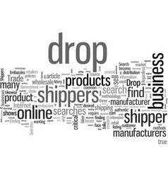 How to locate drop shippers for your success vector