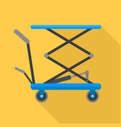 Hydraulic lift cart icon flat style vector