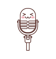 kawaii microphone sound music equipment vector image