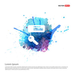 Key chain icon - watercolor background vector