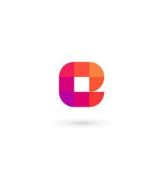 letter e mosaic logo icon design template elements vector image