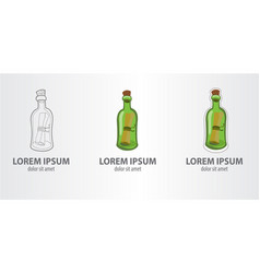 Logo message in a bottle vector