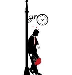 man waiting for date vector image