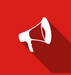 megaphone flat icon with long shadow vector image