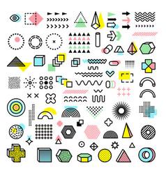 memphis design modern funkie graphic fashion vector image