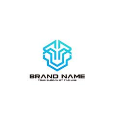 Modern robot logo design vector