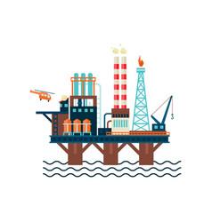 oil factory platform vector image