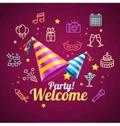 Party Invitation Birthday Card vector image