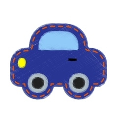 Patch with car- for kids vector