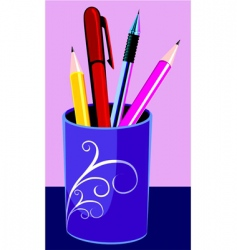 pen stand vector image