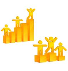 People on growing diagram vector