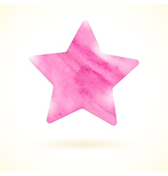 Pink watercolor star vector