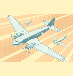 planes flying in sky vector image