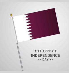 qatar independence day typographic design with vector image