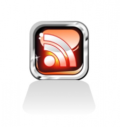 RSS feed icon vector image
