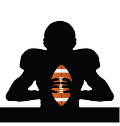 Rugby player silhouette vector