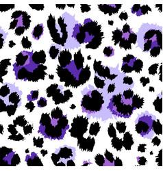 Seamless ultraviolet violet leopard pattern vector