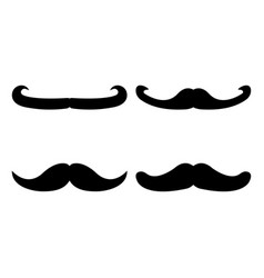 set of moustache icon and label fathers day flat vector image