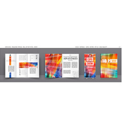 set of template layout annual report vector image