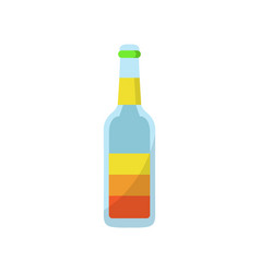 simple juice bottle vector image