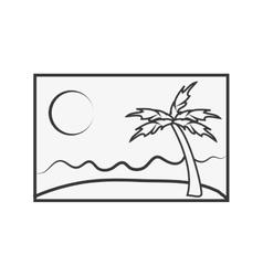 single postcard icon vector image